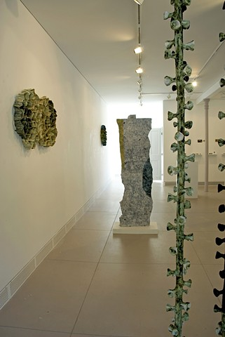 ceramic sculpture/abstract/geometric