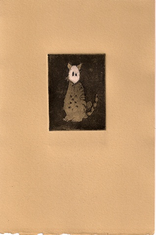 Ghost in a Cat Costume