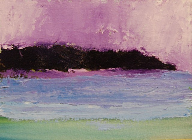purple headland 6x8 oil panel