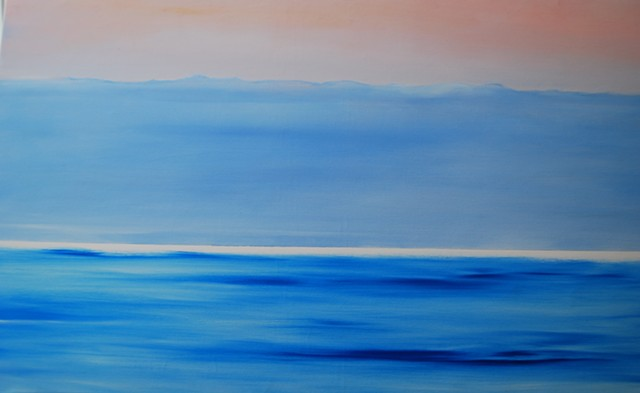 the summer sea oil on canvas 32x42