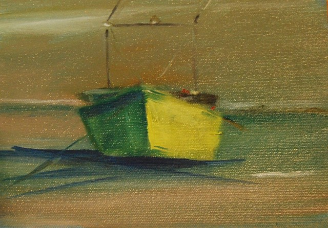 yellow skiff