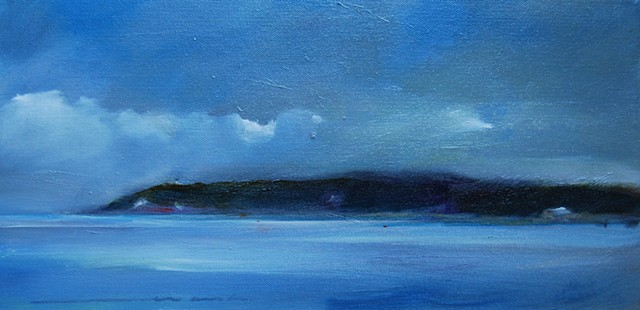 east chop oil on canvas 8x16