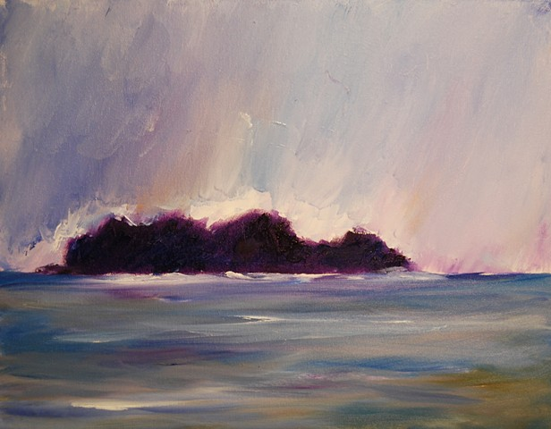 after the storm (purple) 16x20 oil on canvas