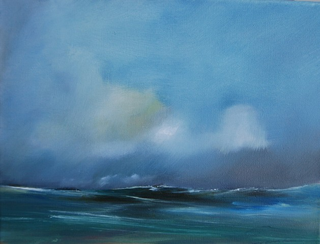 passing storm 11x14 oil on canvas