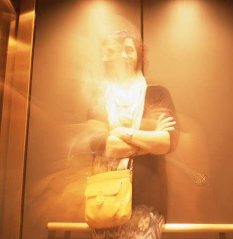 Mom in the Elevator