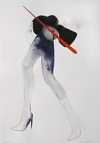 Flaneur, Flaneuse, Paris, Collage on Paper, Residency