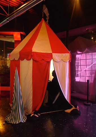 "Set Design for ""Sister Act"" (Installation View 2: Circus Tent With Fortune Teller) Chrysler Museum Glass Studio"