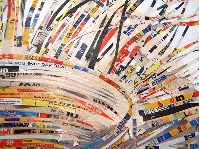Paper Bowl - Junk Mail (detail)