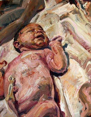 Portrait 5 - Lauren / delivery room
