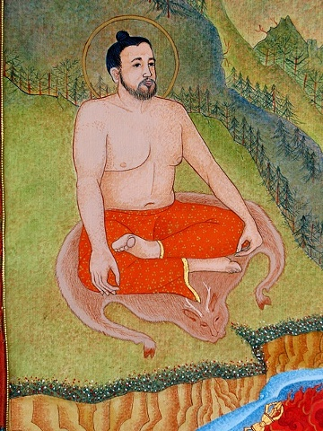detail form rudi thangka, Babaji