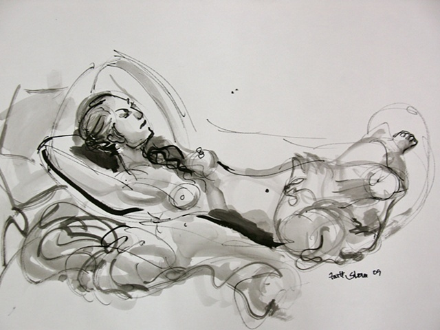 Natalie in ink