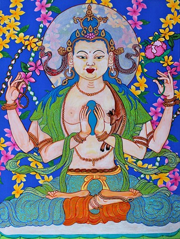 Chenrezig, Contemporary Buddhist art, Avalokitshevara, faithstoneart