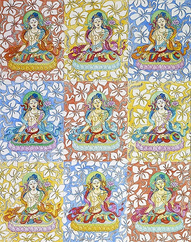 White Tara, Contemporary Himalayan Art, #White Tara, #faithstoneart