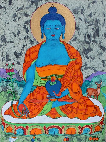#Medicine Buddha, #Buddhism, #Contemporary Buddhist art