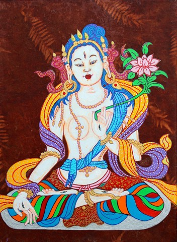 #White Tara, #Buddhism,#Contemporary Buddhist Art