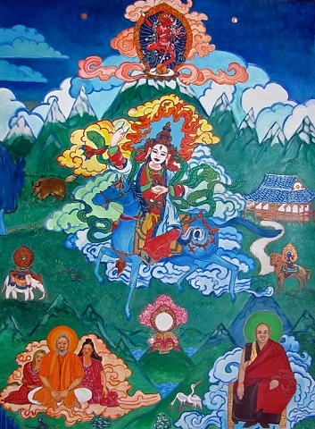 Thangka painting, Achi Dolma, Faith stone art, faithstoneart, Contemporary Buddhist and Hindu art