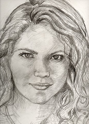 Faith Stone, Faith Stone art, Megan Saks, Kona, portraits, pencil drawings