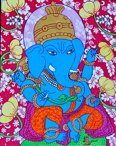 Ganesha, contemporary hindu art, contemporary buddhis art,