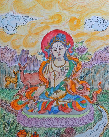 #Tara, #White Tara, #buddhist art, #buddhism, #faithstoneart