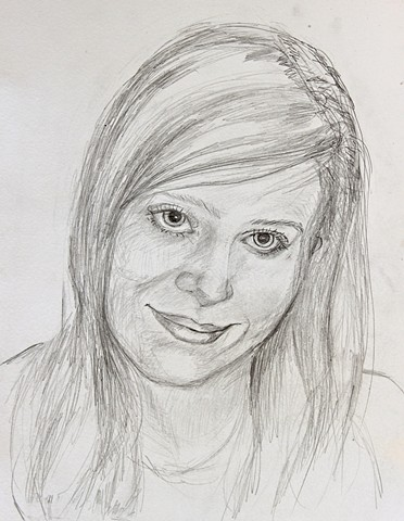 portraits, pencil drawings