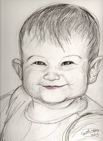 faith stone art, portraits, pencil drawing, children's portrait, Kona, Boulder