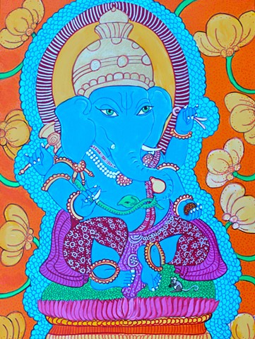 GANEHSA, CONTEMPORARY buddhist and hindu art, faithstoneart, contemporary Hinduart