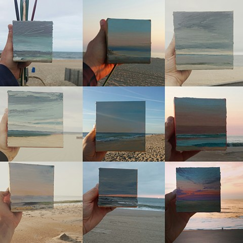 Plein air oil paintings in Bethany Beach, Delaware