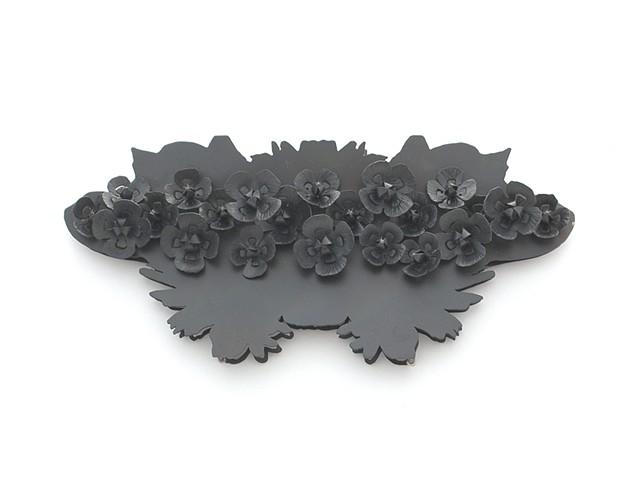 Rorschach Corsage: Poppy Brooch