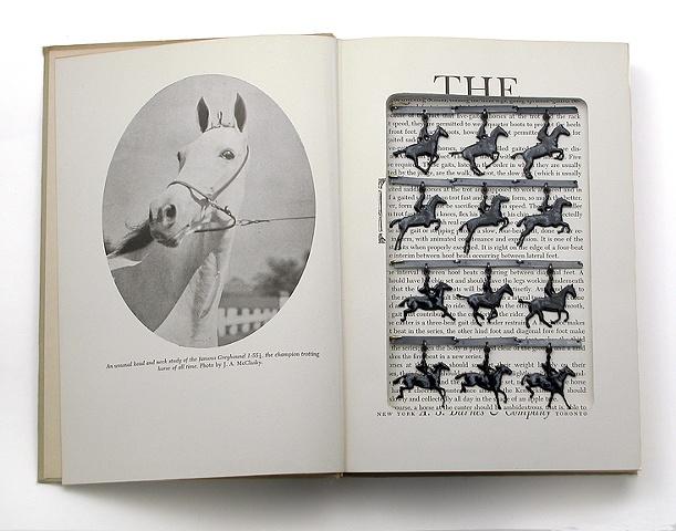 neckpiece in altered book