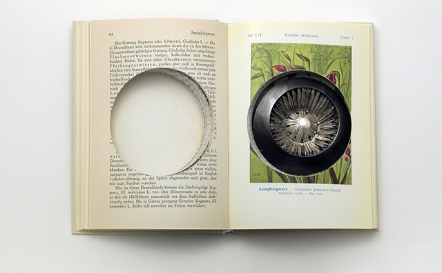 brooch in altered book