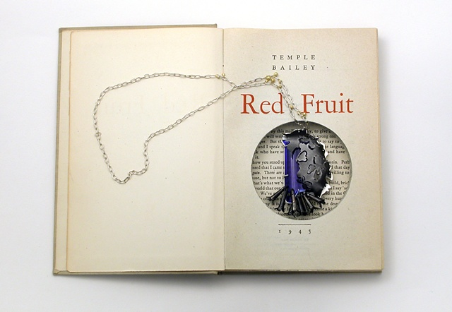 pendant in altered book