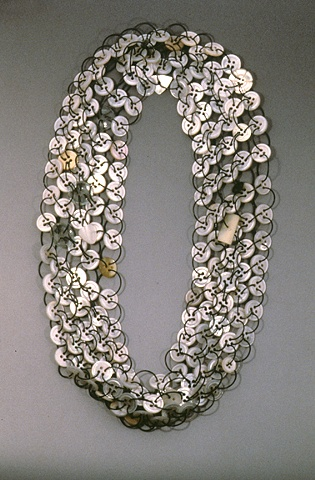 Mother of Pearl Button Necklace