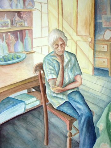 Old Woman Watercolor