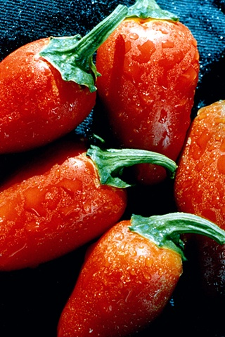 Close up of Red Hot Peppers