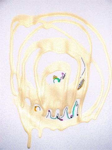 Iridescent Drip Drawing