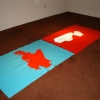 Glossy Red on Turquoise/Minty Green on Red