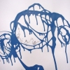 Blue Drip Drawing