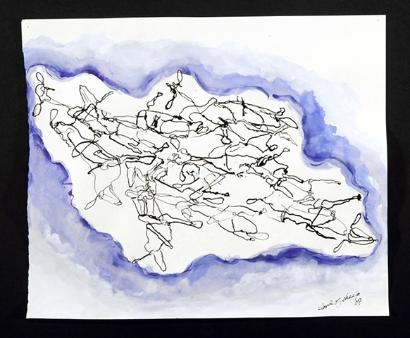 Cloud of Sheep (Blue)