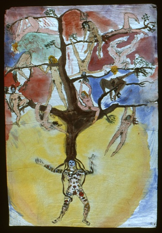 Tattooed Circus Mistress with Tree