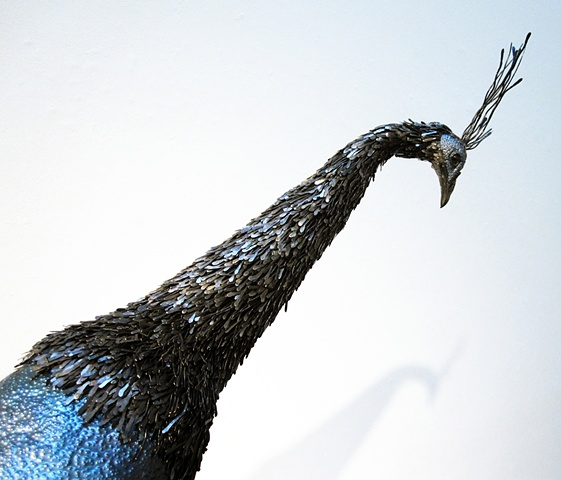 peacock sculpture metal furniture animal