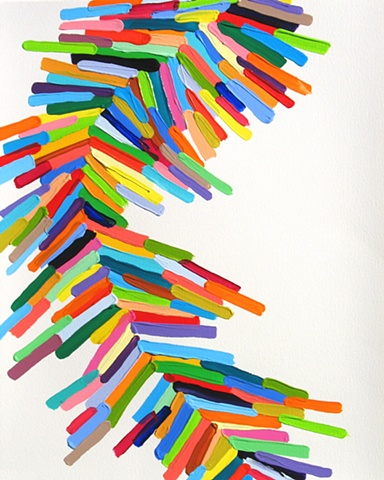 Pleat, 20 x 16 inches, acrylic on paper, 2011