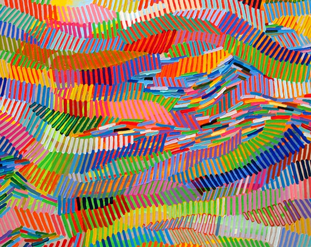 Martina Nehrling, Vivid and Continuous, 38H x 48L in., acrylic on canvas, 2014