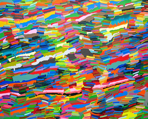 Martina Nehrling, Bay, 48 x 60 inches, acrylic on canvas, 2017