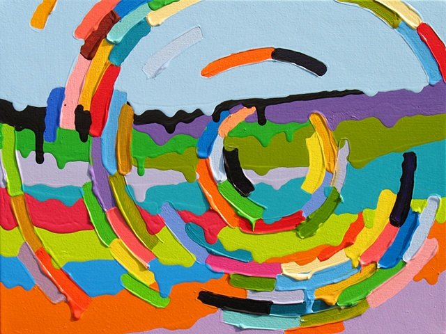 Martina Nehrling, Leeway, 12H x 16L in., acrylic on canvas, 2011