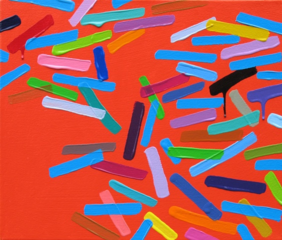 Martina Nehrling, Smithereens, 12H x 14L in., acrylic on canvas, 2010