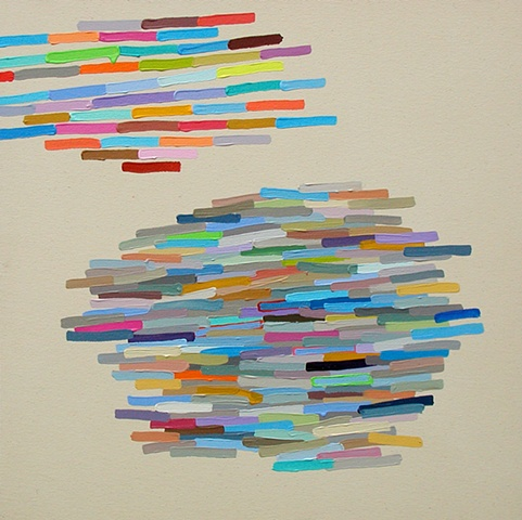 Martina Nehrling, Echo, 30H x 30L in., acrylic on canvas, 2006