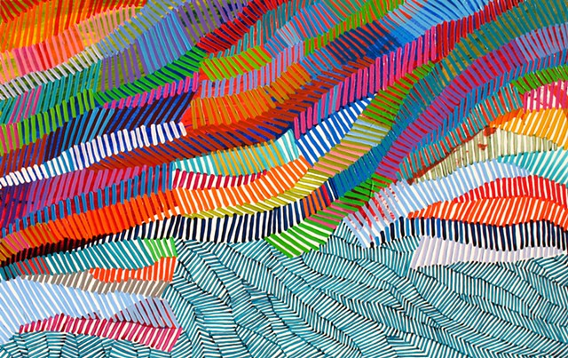 Martina Nehrling, Yarning, 40H x 63L in., acrylic on canvas, 2015