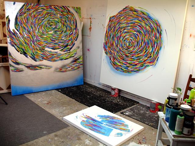 Martina Nehrling studio 2011 December, ...Memory Palace and Relish
