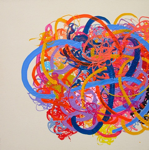 Martina Nehrling, Tangle, 2006, 30H x 30L in., acrylic on canvas