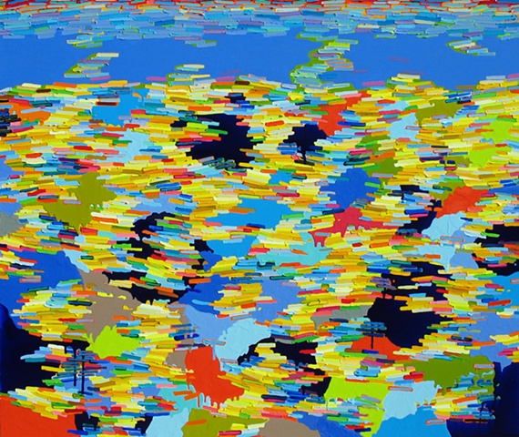 Martina Nehrling, Submerged, 60H x 72L in., acrylic on canvas, 2011